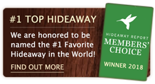 We are honored to be named the Number 1 Favorite Hideaway in the World by the Andrew Harper 2018 Members' Choice Awards.