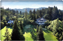 aerial view of Meadowood Napa Valley