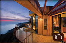 Pacific Suite deck at sunset