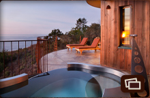 Soaking Tub on Upper Pacific Suite deck