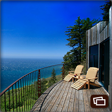 Pacific Ocean views from the Upper Coast House deck